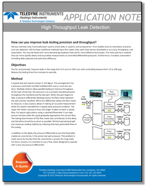 high throughput leak detection hero image