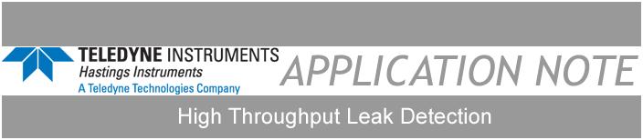 high throughput leak detection banner