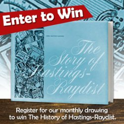 Register to win The History of Hastings-Raydist Book.